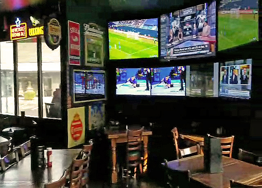 JB O'Brien's Irish Pub & Sports Bar sports tvs, pub tables